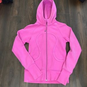 Lululemon athletica pink scuba hoodie